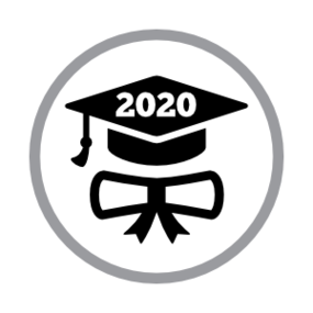 Custom Graduation Cap and Scroll Circle Sticker