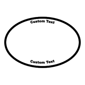 Oval Sticker With Your Logo
