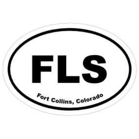 Fort Collins, Colorado Oval Stickers