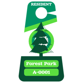 Multi Color Triangle Apartment Parking Permit Hang Tag