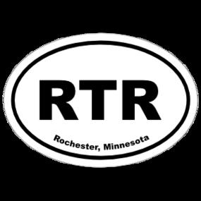 Rochester, Minnesota Oval Stickers