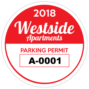 Apartment Circle Parking Permit Sticker