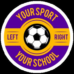 Custom Circle Screw Top Soccer Sticker