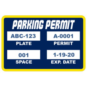 Parking Permit Rectangle 7