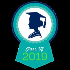 Custom 2019 Girl Graduation Cheer Sticker