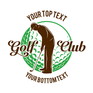 Custom Golf Club Player Circle Sticker