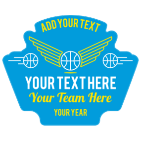 Custom Retro Basketball Patch Sticker