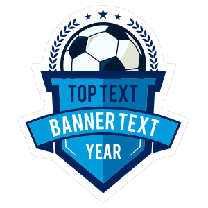 Custom Die-Cut Banner Soccer Sticker