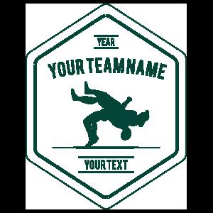 Custom Wrestling Team Diamond Transfer Sticker