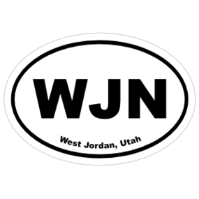 West Jordan, Utah Oval Stickers