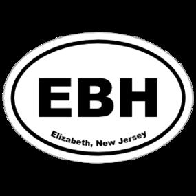 Elizabeth, New Jersey Oval Stickers