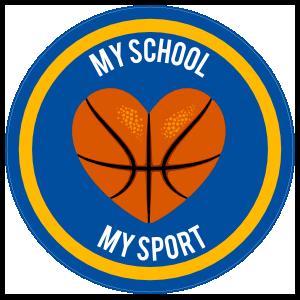 Custom Printed Basketball Heart Circle Sticker