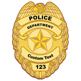 Custom Police Badge Sticker