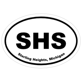 Sterling Heights, Michigan Oval Stickers