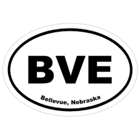 Bellevue, Nebraska Oval Stickers