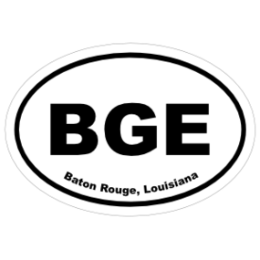 Baton Rouge, Louisiana Oval Stickers