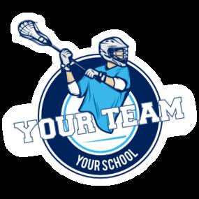 Custom Team Lacrosse Circle Sticker