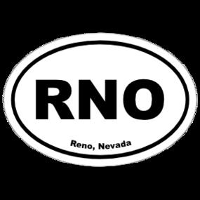 Reno, Nevada Oval Stickers