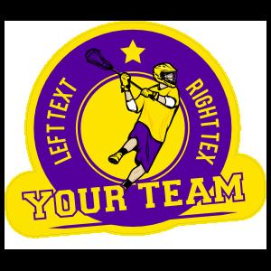 Custom Your Team Lacrosse Circle Sticker
