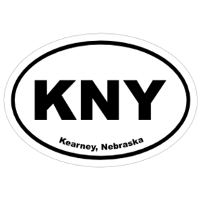 Kearney, Nebraska Oval Stickers