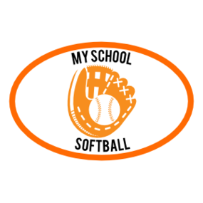 Custom Softball Mitt Oval Sticker