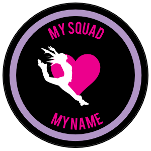 Custom Leaping Dancer with Heart Circle Sticker