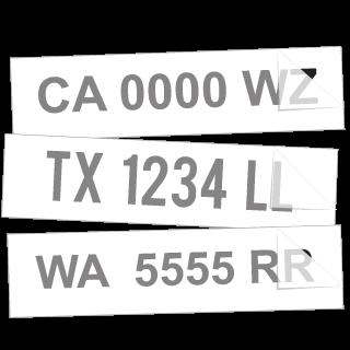 Boat Registration Number Sticker