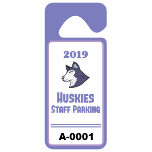 High Visibility Long Standard School Hang Tag Parking Permit