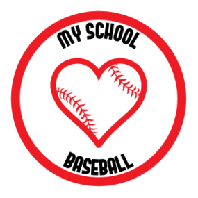 Custom Love Baseball Circle Magnet
