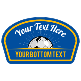 Custom Soccer Burst Patch Sticker