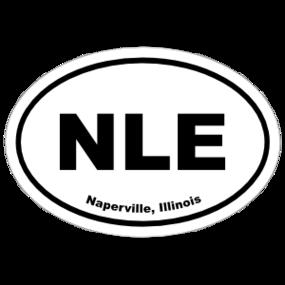 Naperville, Illinois Oval Stickers