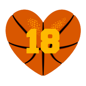 Custom Heart-Love Basketball Number Sticker