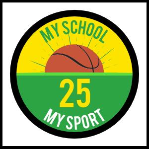 Custom Printed Basketball with Half Circle Sticker