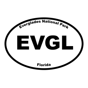 Everglades National Park Oval Sticker