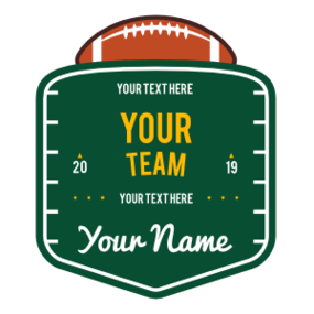 Custom Football Field Badge