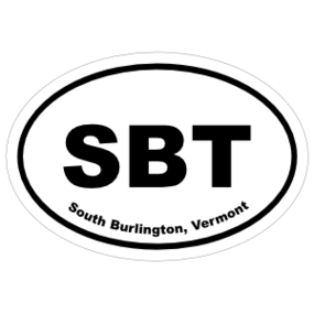 South Burlington, Vermont Oval Stickers