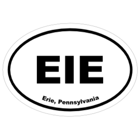 Erie, Pennsylvania Oval Stickers