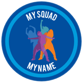 Custom Color Dance Squad Circle Sticker