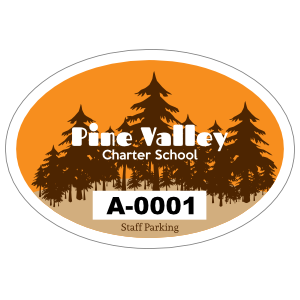 Pine Tree Oval School Hang Tag Parking Permit