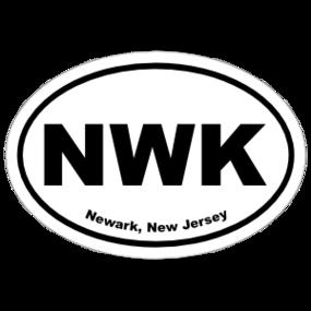 Newark, New Jersey Oval Stickers