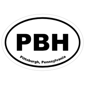 Pittsburgh, Pennsylvania Oval Stickers