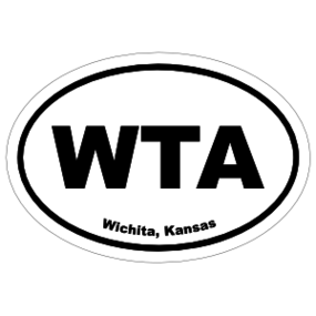 Wichita, Kansas Oval Stickers