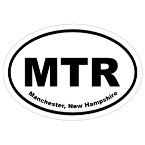 Manchester, New Hampshire Oval Stickers