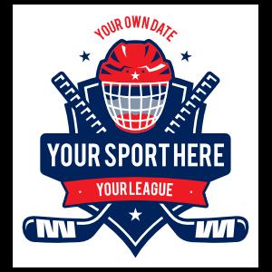 Custom Ice Hockey Helmet and Stick Sticker