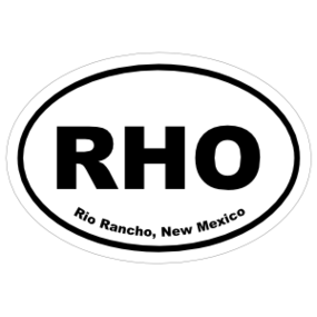 Rio Rancho, New Mexico Oval Stickers