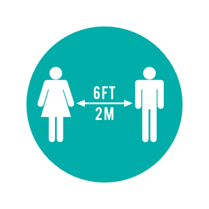 Customize this Social Distancing Floor Sticker to Match Your Brand!