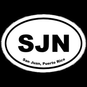 San Juan, Puerto Rico Oval Stickers