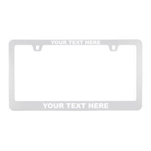 Custom Chrome Metal License Plate Frame