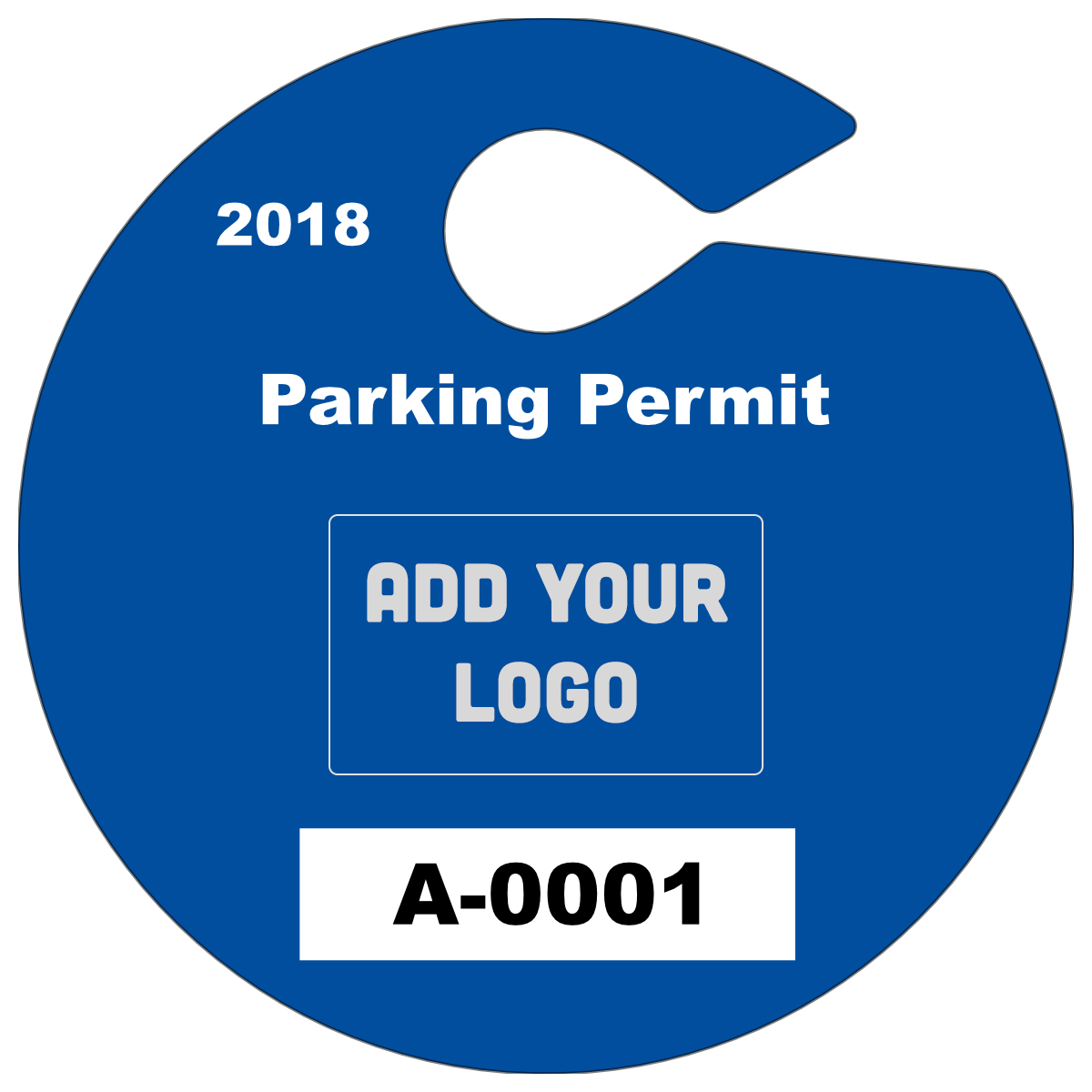 Circle Hang Tag Parking Permit with Your Logo