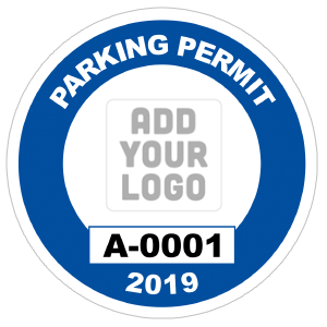 Circle Parking Permit with Your Logo